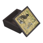 Cuervo y esqueleto cajas de regalo de calidad