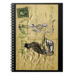 Cuervo y esqueleto cuadernos