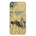 Cuervo y esqueleto funda de iPhone 6 barely there