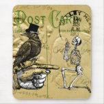 Cuervo y esqueleto tapetes de ratón