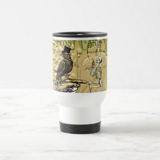 Cuervo y esqueleto tazas de café