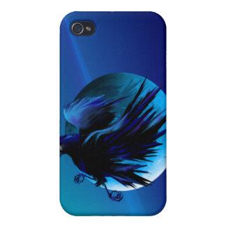 Cuervo y luna 444 iPhone 4/4S carcasa