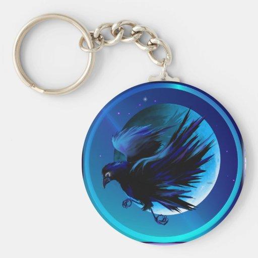 Cuervo y Luna-Llaveros Llavero Redondo Tipo Pin