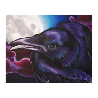 Cuervo y luna membrete personalizado