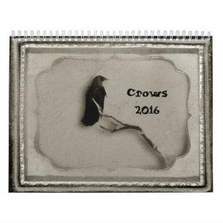 Cuervos 2016 calendario de pared