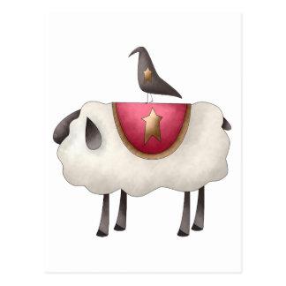 Cuervos de Cali · Cuervo y ovejas Postal