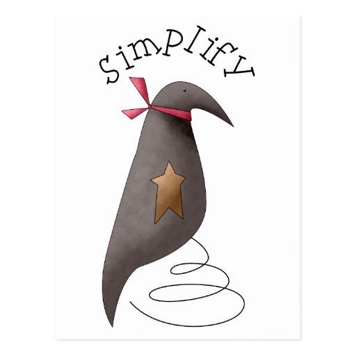 Cuervos de Cali · Simplifique Tarjetas Postales