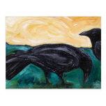 Cuervos de los llanos postal