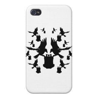 Cuervos de Rorschach de los sueños y latas de aero iPhone 4/4S Fundas
