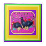 Cuervos del festival por Sharles Azulejos Ceramicos