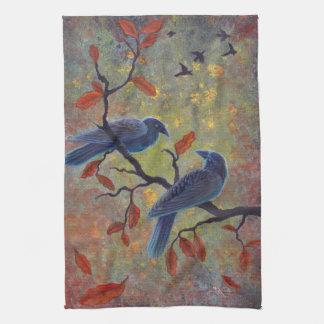 Cuervos del otoño toalla