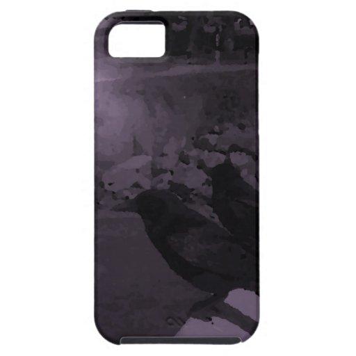 Cuervos en blanco y negro iPhone 5 Case-Mate protector