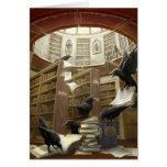 Cuervos en la tarjeta de biblioteca