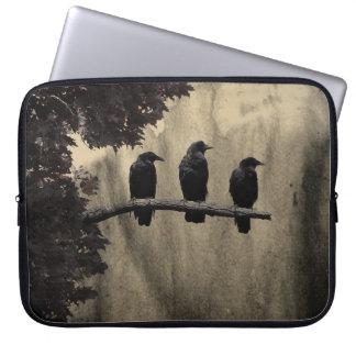 Cuervos en naturaleza mangas portátiles