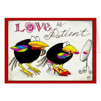 Cuervos en tarjeta de las tarjetas del día de San