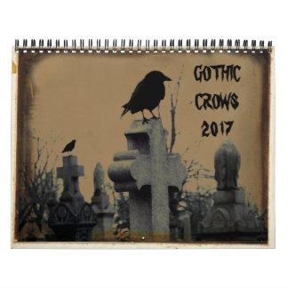 Cuervos góticos 2017 calendarios de pared
