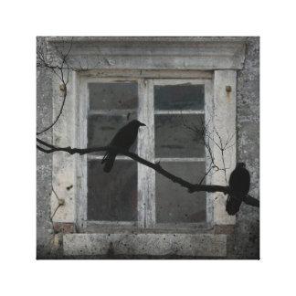 Cuervos industriales impresion de lienzo