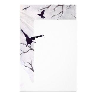 Cuervos inmóviles papelería