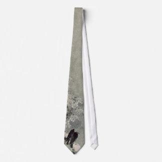 Cuervos japoneses en lazo de la nieve corbata personalizada