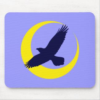 Cuervos luna media luna raven crescent moon alfombrillas de raton