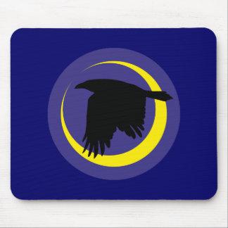 Cuervos luna media luna raven crescent moon tapetes de raton