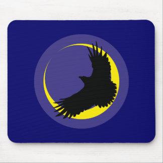 Cuervos luna media luna raven crescent moon alfombrillas de ratones