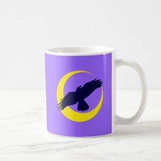 Cuervos luna media luna raven crescent moon tazas de café