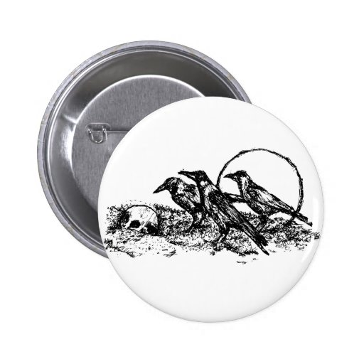Cuervos Pin Redondo 5 Cm