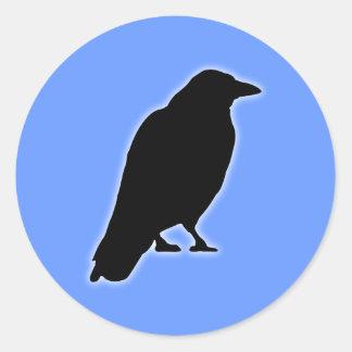 Cuervos raven pegatina redonda