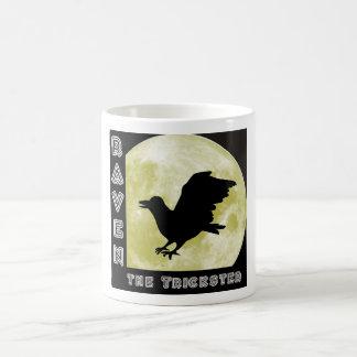 Cuervos raven trickster taza