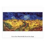 Cuervos sobre Wheatfield de Vincent van Gogh Tarjetas Postales