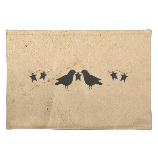 Cuervos y estrellas Placemat Mantel