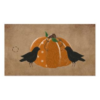 Cuervos y etiqueta colgante del primitivo de la plantillas de tarjeta de negocio