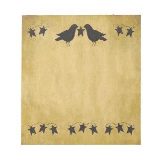 Cuervos y libreta de las estrellas blocs de notas