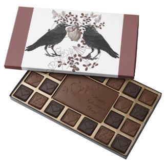 Cuervos y tarjeta del día de San Valentín gótica Caja De Bombones Variados Con 45 Piezas