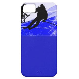 Cuesta abajo en la cuesta del esquí iPhone 5 Case-Mate funda