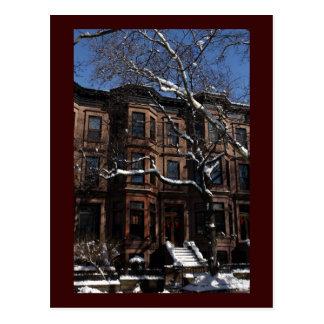 Cuesta del parque, Brooklyn, arenisca de color osc Tarjeta Postal