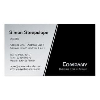 Cuesta escarpada - blanca y negra (platino) tarjetas de visita