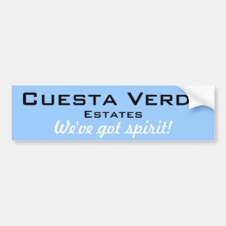 Cuesta Verde Estates Bumper Sticker