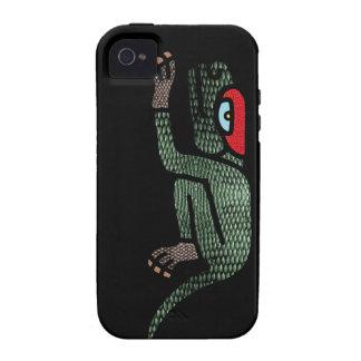 Cuetzpallin del caso azteca del iPhone del iPhone 4 Carcasas