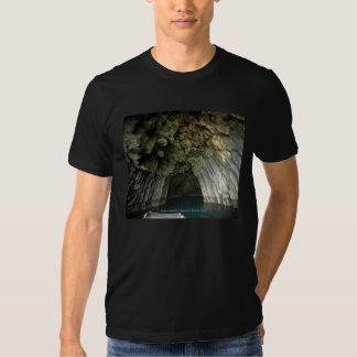 Cueva acolumnada del basalto de la isla de Akun Playeras