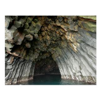 Cueva acolumnada del basalto de la isla de Akun, Tarjetas Postales