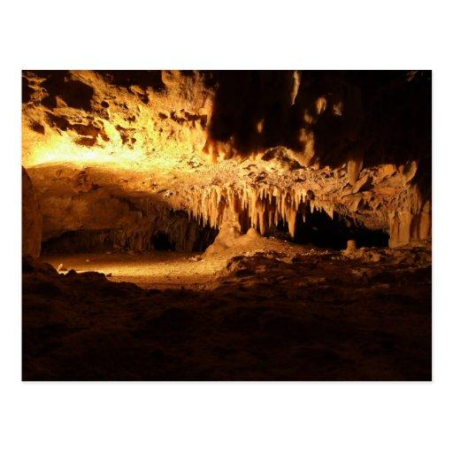 Cueva asombrosa con las agujas postal