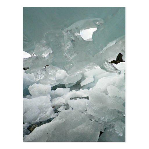 cueva de hielo tarjeta postal