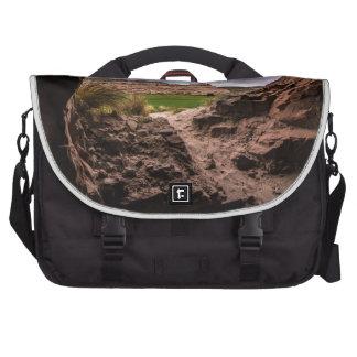 Cueva de la piedra arenisca en el clima bolsas para portatil