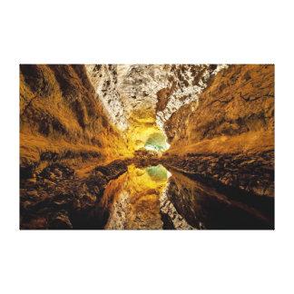 Cueva de los Verdes Canary Islands Spain Cave Canvas Print