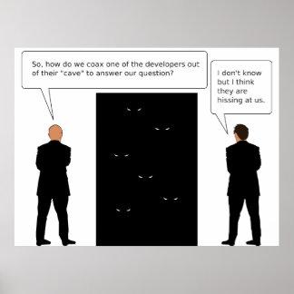 Cueva del desarrollador póster