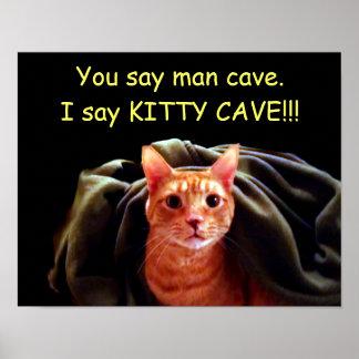 Cueva del gatito póster