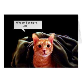 Cueva del gatito tarjeta de felicitación