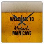 Cueva del hombre - cerveza reloj de pared